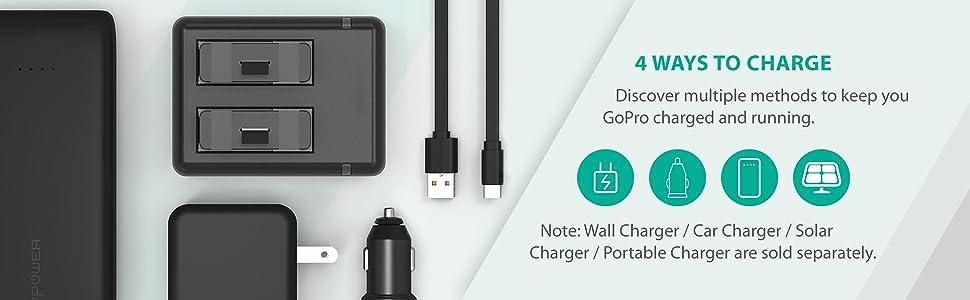 Amazon Com Hero 5 Batteries Ravpower Camera Battery