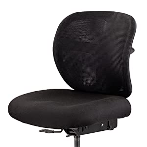 closeup of Vue's contoured seat with ergonomic waterfall edge