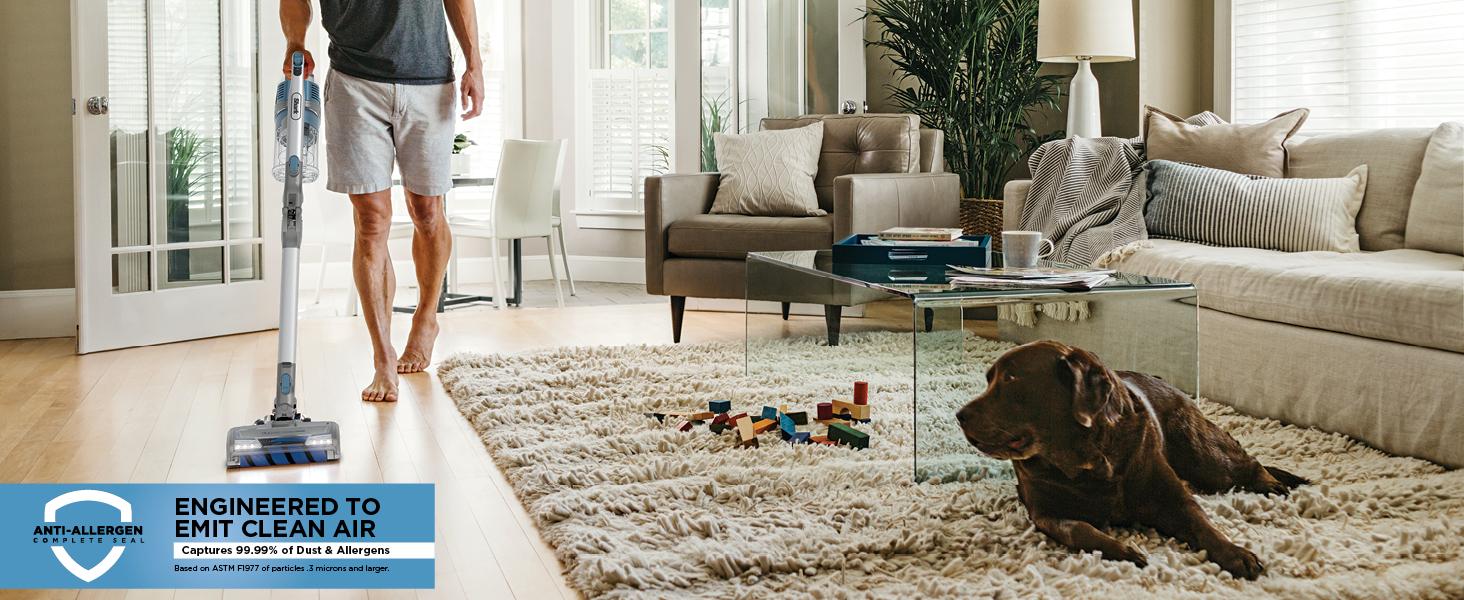 anti allergen complete seal, floor to carpet cleaning, stick vacuum, cordless stick vacuum