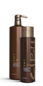 Cibu, hair care, 3-in-1, shampoo, conditioner