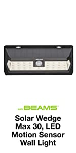 mr beams solar wedge max 30, wireless solar led security light, solar led weatherproof wall light