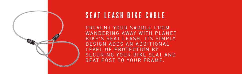 2.5/mm X 61/cm Planet Bike Seat Laisse de v/élo c/âble de s/écurit/é