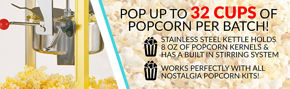 Nostalgia CCP510BLK Popcorn Cart