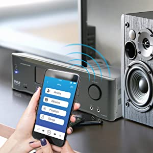 Bluetooth Stereo Amplifier, Sound Receiver, Stereo Amplifier, Wireless Streaming, Audio amplifier