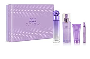 set, gift, value, perry, ellis, 360, purple, shower, perfume, lotion, mini, sexy, holiday