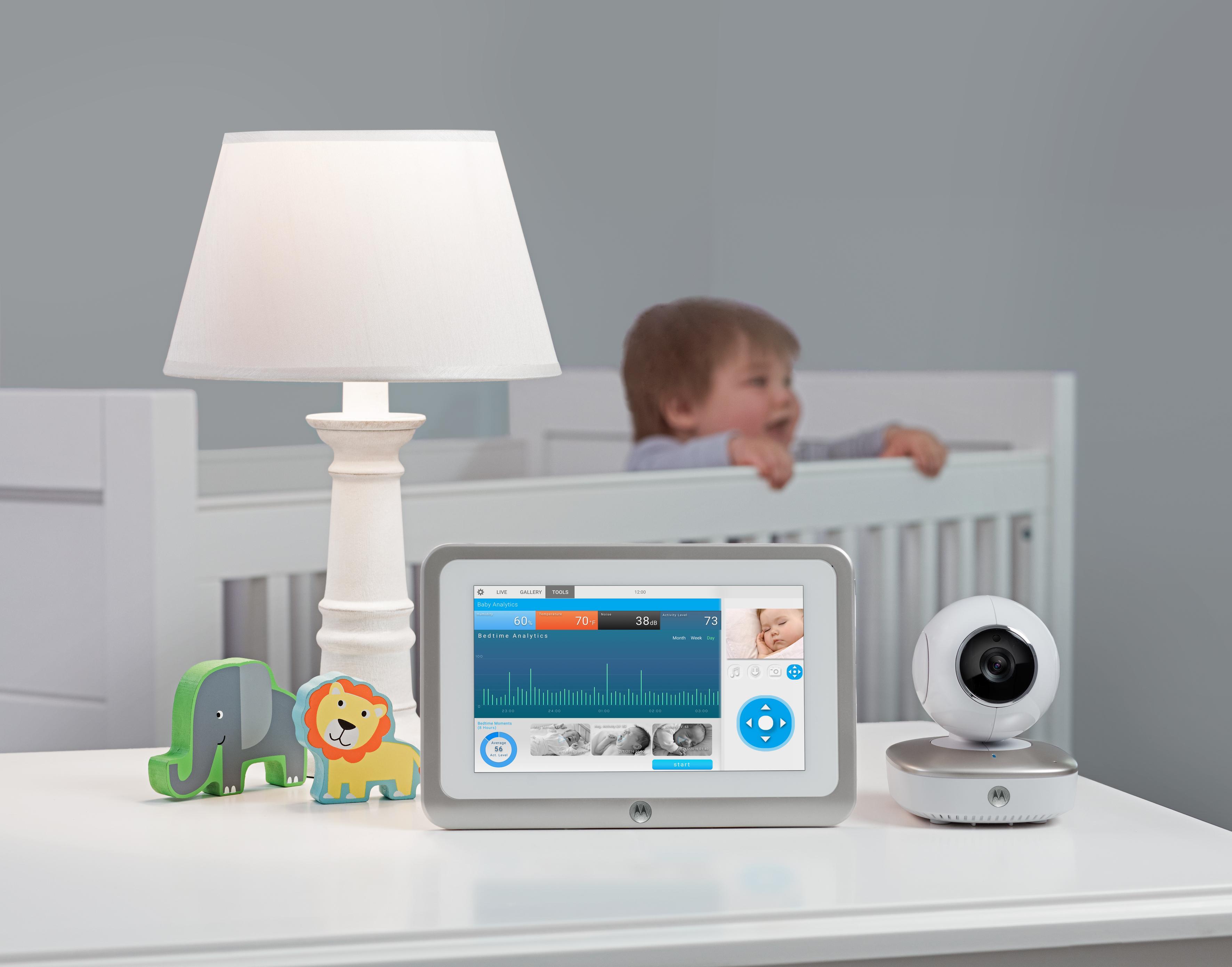 motorola smart nursery 7 baby monitor with 8gb sd card ebay. Black Bedroom Furniture Sets. Home Design Ideas