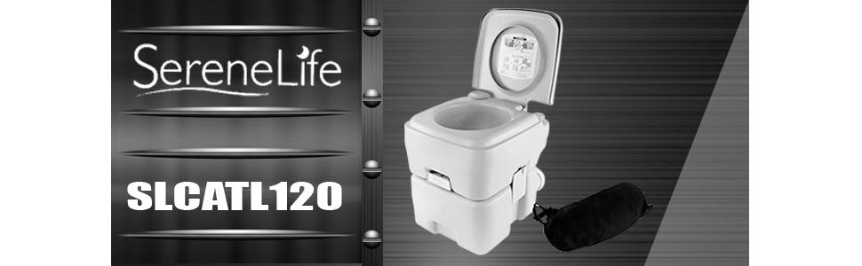 Amazon.com : SereneLife Outdoor Portable Toilet with Carry