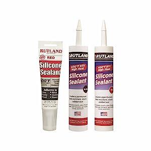 Rutland Products, silicone sealants, hi-temp, 600, black, red, adhesive
