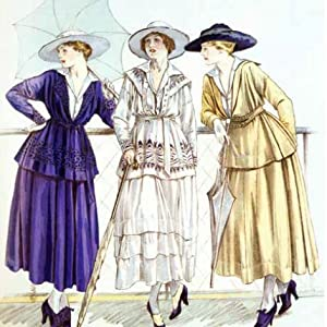 Chanel's jersey suits  jackets First World War, as illustrated in magazine Les Elegances Parisiennes