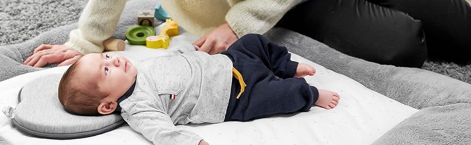 head neck pillow bedding baby sleep flat head prevention shape newborn correct infant plagiocephaly