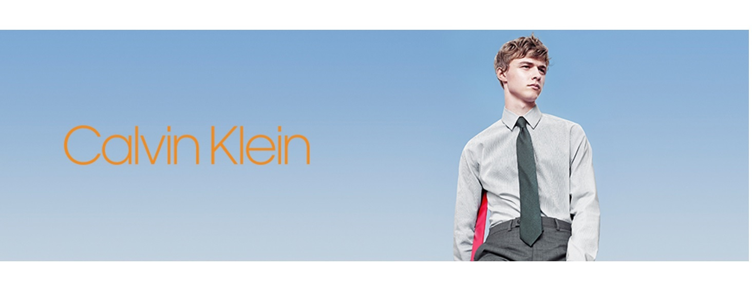 Calvin Klein Mens Dress Shirts Non Iron Slim Fit Solid At Amazon