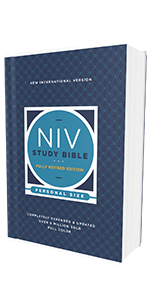 niv study bible; paperback; softcover