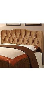 upholstered headboard, headboard, pulaski, home meridian, upholstered, velvet bronze