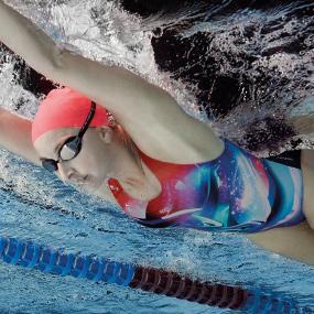2754476d82 Speedo Women Solar Surface Placement Digital Powerback Swimwear ...