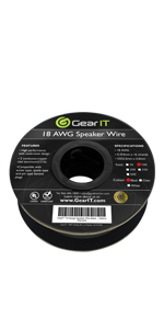 18 gauge speaker wire black 100ft