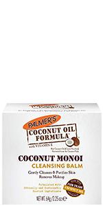Coconut monoi facial cleansing balm