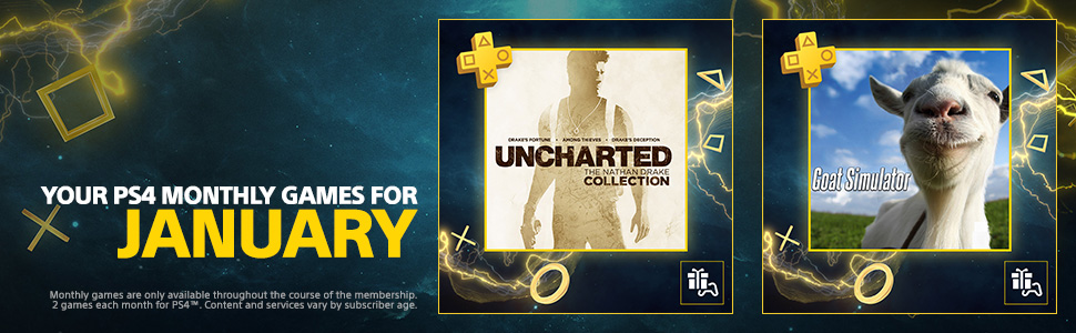 ps plus ps4 uncharted nathan drake collection goat simulator