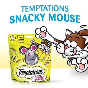 Temptations Snacky Mouse, Cat toys, Cat treats, Treat dispenser, Playtime, Keeps your cat active
