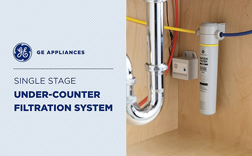 GE Appliances Single Stage Undercounter Water Filtration System (GXK185KBL)