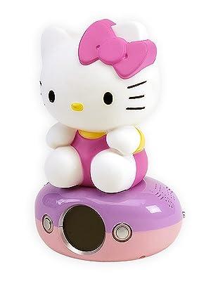 Fonctions Horloge Num/érique Et Connexion Musicplayer Hello Kitty Assise Teknofun 811169 Lampe D/écorative