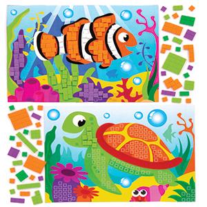 Sea Life Mosaic Stickers