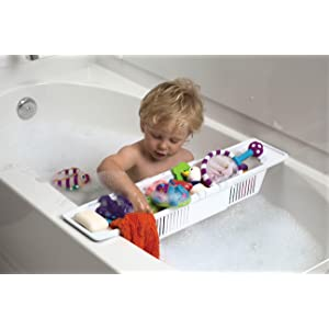 kidco bath toy organizer storage basket white bathtub toy bags baby. Black Bedroom Furniture Sets. Home Design Ideas