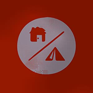 stylized icon of a house and a tent