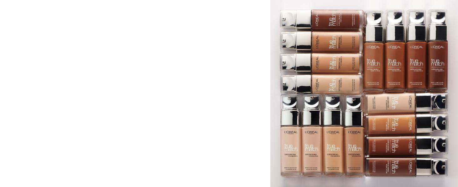 helles makeup, mittleres makeup, dunkels makeup