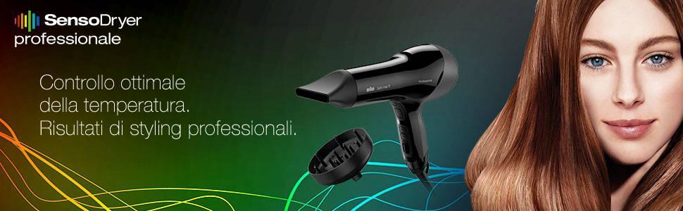 Braun Satin Hair 7 HD785 Asciugacapelli con Ioni Attivi, Phon con Sensore Termico Che Controlla il C