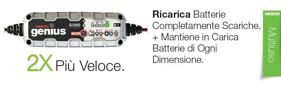 CARICABATTERIE NOCO GENIUS g7200 Repair 12v 24v batteria caricabatterie auto PKW MOTO