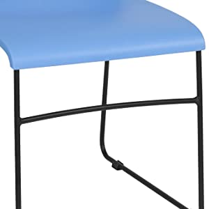 Amazon.com: Flash Furniture 5-RUT-2-BL-GG Blue Plastic Stack ...