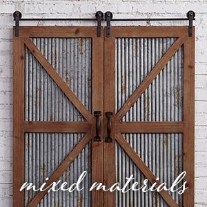 mixed materials plaques