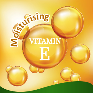 Enriched with natural Vitamin E,