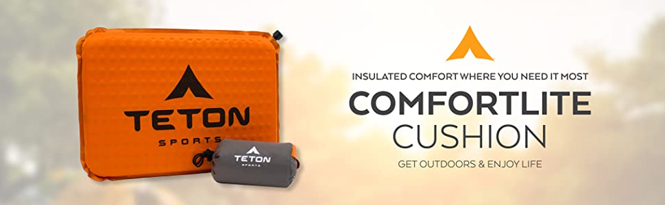 TETON Sports ComfortLite Self-Inflating Seat Cushion