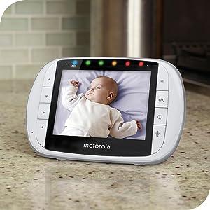 "Motorola MBP36XL Portable Color Screen Video Baby Monitor, 5"""