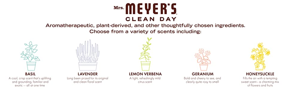 Amazon.com: Mrs. Meyers Clean Day, detergente para ...