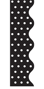 Black and white dots rolled border