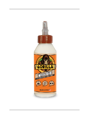 gorilla wood glue bottle 4oz liquid gallon pva furniture woodworking white yellow dark hard tropical