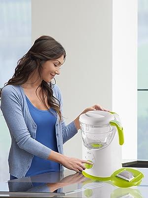 Chicco Easy Meal - Robot de cocina que ralla, cocina al vapor, tritura, descongela y calienta: Amazon.es: Bebé