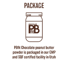 pbfit peanut butter powder the powder is packaged in utah