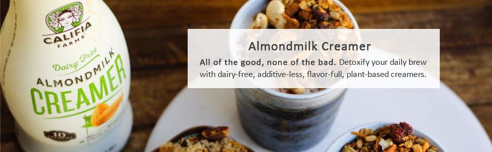 Creamer, Coffee, Dairy, Free, Lactose, Milk, Almond, Nut, Plant, Based, Keto, Soy, Half, Coconut