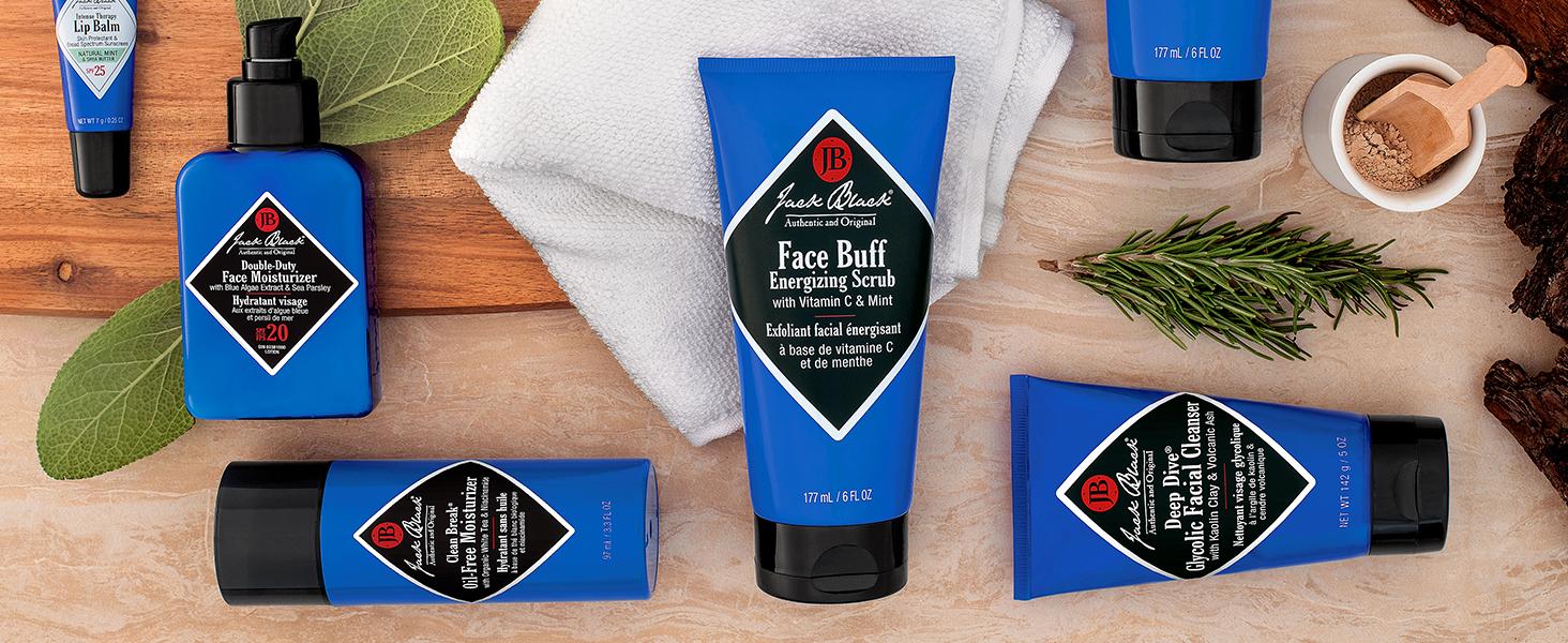 Jack, Black, Jack Black, Men, Mens, Face, Face Buff, Energizing Scrub, Shave, Clean, Exfoliant