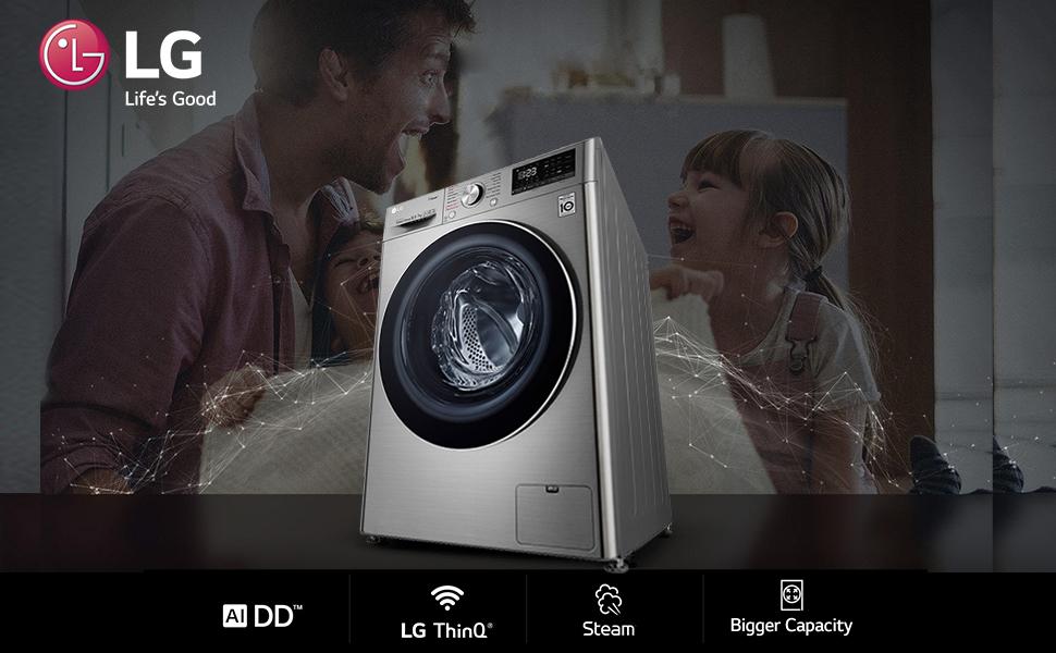 LG Washer Dryer; LG front load, LG wi-fi washing machine
