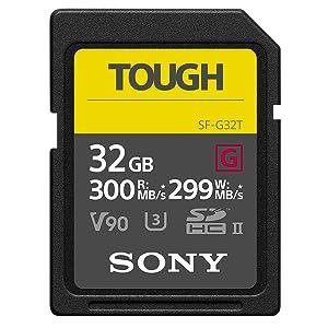 Sony SF-G32T UHS-II SD Tough Tarjeta de Memoria - 32GB Read 300mb ...
