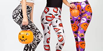 leggings;tights;pants;colorful;creative;design;two;left;feet;womens;clothing