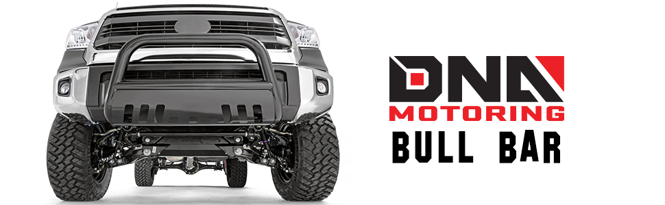 DNA Motoring BURB-026-BK Black BURB026BK 3 Front Bumper Push Bull Bar