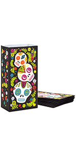 Day of the Dead paper bags for party favors, candy, Halloween treats, luminaries and fall parties