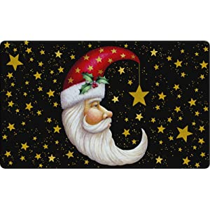 christmas;holiday;santa claus;beard;santa hat;gold;star;celestial;sky;night