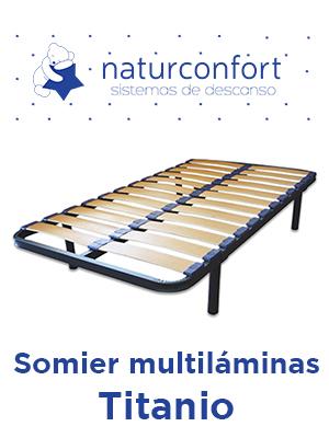 Naturconfort Somier de láminas, Haya, 135x190
