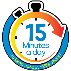 Just 15 minutes a day to keep school skills sharp